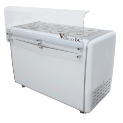 VIA VENETO ice  cream dipping cabinet, 8 pans